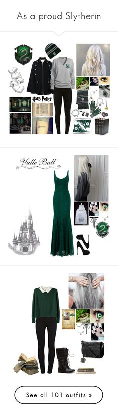 """As a proud Slytherin"" by alexishambleton on Polyvore featuring mode, See by Chloé, Elope, Converse, Alex and Ani, Amore La Vita, Decorative Leather Books, NOVICA, West Coast Jewelry et Marc by Marc Jacobs"