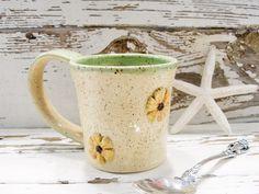 Coffee cup handmade rustic tea mug ceramic pottery