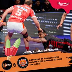 With an extra push by the #goodness of #Havmor, U Mumba will raid the Puneri Paltan head-on!