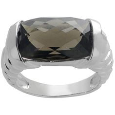 Imperial Gems For You Sterling Silver Smokey Quartz Ring