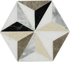Master Ensuite Marble Mosaic  | Artisans of Devizes - Jet Set Istanbul