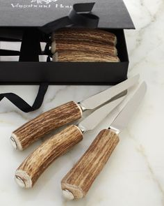 Five-Piece Stag Horn Flatware Place Setting by Vagabond House at Horchow