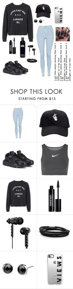 """""""I got fake people showing fake love to me🎶"""" by ahriraine ❤ liked on Polyvore featuring Topshop, NIKE, Edward Bess, Beats by Dr. Dre, BillyTheTree and Casetify"""