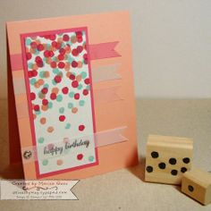 These confetti stamps are terrific! Carved by Marisa Gunn