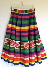 Vintage 40s/50s Women's Mexican Circle Skirt - Beautiful Vibrant Colors!