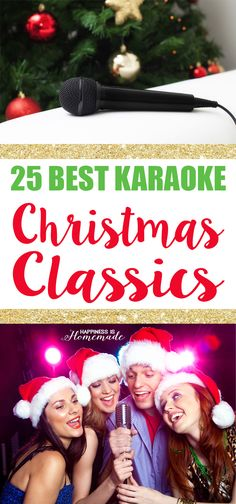 25 Best Karaoke Songs: Christmas Classics + the most awesome karaoke party machine GIVEAWAY! #SingtrixKaraoke #ad