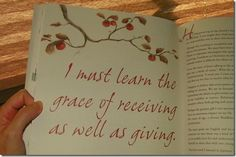 Bakers' Blessings: ... the grace of receiving...
