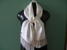 Vintage 1980s 80s white double long silk by RauzaBoutique