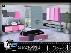A modern minimalist bathroom set for your sims ^^ by simcredibledesigns.com  Found in TSR Category 'Sims 3 Downloads'