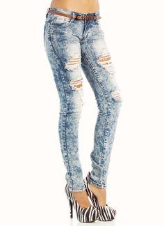 acid wash destroyed jeans $35.70