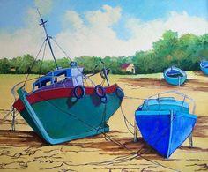 Titulo: Barcos varados, óleo sobre tabla, 81 x 60, 800 €