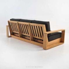 cabana teak sofa with arms Resin Patio Furniture, Patio Furniture Cushions, Diy Outdoor Furniture, Sofa Furniture, Home Decor Furniture, Pallet Furniture, Furniture Design, Plywood Furniture, Luxury Furniture