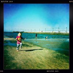 My daughter at the sea side, Wynnum, Brisbane