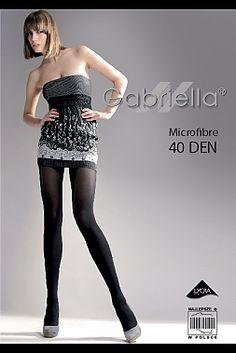 Gabriella Women/'s Classic 40 Denier Opaque Microfibre Black Tights
