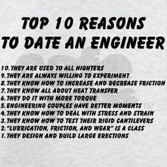 15 Reasons to date an Engineer | Humor | Engineering humor ...