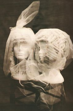 Powerful Heads, Comme des Garçons S/S 2005 powdered wigs photographed by Paolo Roversi featured in Vogue Italia, March 2005.