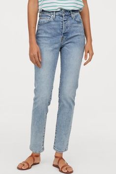 New Jeans Outfit Casual jeans price white ripped jeans womens Jeans Skinny, Denim Flare Jeans, Leather Jeans, Casual Jeans, Casual Outfits, Mom Jeans H&m, Light Denim Jeans, H&m Jeans, Boys White Jeans