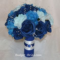 Horizon Blue Wedding Flower Collection just add some orange and bam have it!