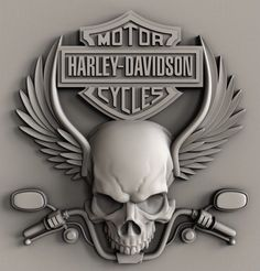 STL models for CNC, Artcam, Aspire, relief harley davidson Harley Davidson Logo, Harley Davidson Chopper, Harley Davidson Kunst, Harley Davidson Tattoos, Harley Davidson Pictures, Harley Davidson Wallpaper, Harley Davidson Motorcycles, Motorcycle Art, Bike Art