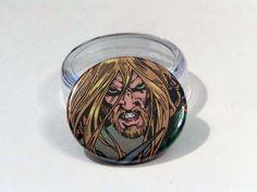 "Comic Book 1.5"" Button// Aquaman, $1.00"