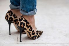 I can't get enough of these leopard shoes!