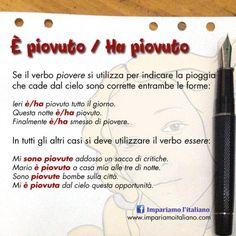 È piovuto, ha piovuto?Perfeziona il tuo italiano con www.impariamoitaliano.com