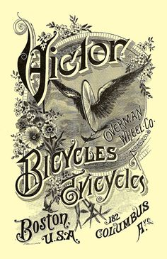 ARTEFACTS - antique images: Victor Bicycles — FREE printable art for personal ...