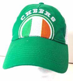 d6d0ecf4211 CHEERS Ireland Baseball Cap Hat Green White Mesh Snapback  WildClover  BaseballCap  Visor Cap