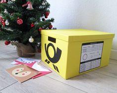 Ganz einfach einen Post Briefkasten selber bauen! Tolle kostenlose Bastelidee inkl. kostenloser Bastelvorlage zum ausdrucken. Schau gleich mal vorbei! Diy Gifts For Kids, Diy For Kids, Crafts For Kids, Arts And Crafts, Xmas Crafts, Ikea Hack, Merry Xmas, Activities For Kids, Recycling