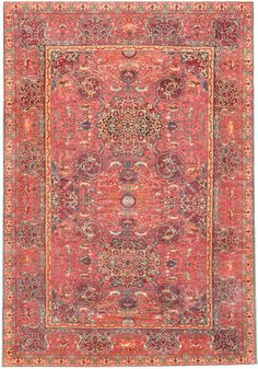 Antique Marbediah Carpet Israeli Rug by 47236, at Nazmiyal, NYC. Drawing influences from East & West, this antique Marbediah rug displays a lush Persianate arabesque adorned w/ animals & ogival medallions.