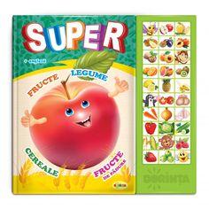 Carte cu sunete -despre Super fructe si legume (romana + engleza) Cereal, Cabinet, Clothes Stand, Closet, Cupboard, Breakfast Cereal, Corn Flakes, Vanity Cabinet, Lockers