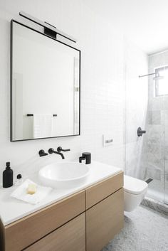 Interior Design by Courtney Trump of LUFT Design | Photography by Colin Price | Modern Sanctuary | Scandinavian Sophistication in San Francisco | Bathroom | Modern Bathroom | Bathroom Fixtures