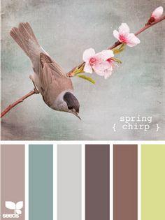 Spring Chirp. Reminds me of a vintage color palette.
