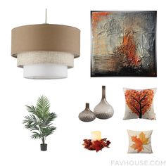 Room Idea With Ceiling Light Abstract Painting Nearly Natural Floral Decor And Glass Vase From November 2016 #home #decor