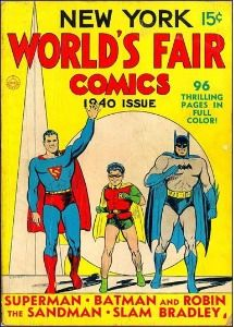 New York World's Fair Comic (1940). Rare comic with Superman and Batman on the…
