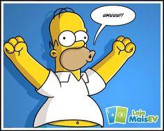 Homer feliz com os produtos da loja :)