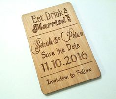 FREE SHIPPING 80 Wooden Eat Drink and be by UniqueEngravedGifts