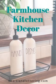 This Farmhouse Kitchen Soap Bottles are perfect for any kitchen. Get one step closer to your dream kitchen with the white bottles that match any decor and instantly make your whole home look organized! Farmhouse Kitchen Decor, Farmhouse Design, Best Gifts For Mom, Gifts For Kids, Dish Soap Dispenser, Modern Homes, Kitchen Organization, Modern Decor, Closer