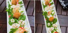 Oua de prepelita umplute, oua in crusta si creveti cu salata. 30 Minute Meals, Tempura, Cobb Salad, Salads