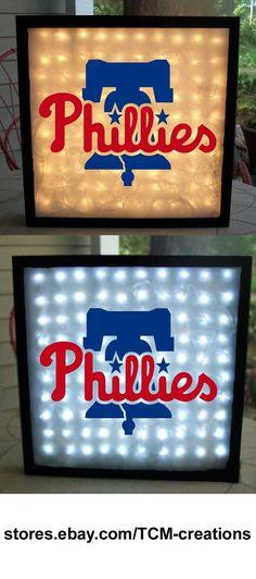 MLB Major League Baseball Philadelphia Phillies shadow boxes with LED lighting