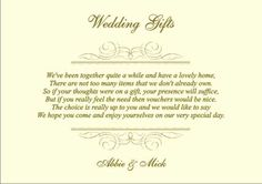 14 best gift list poems images wedding stationery wedding gift