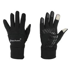 SEEU Winter Warm Anti-Skid Windproof Touch Screen Gloves Bike Full Finger Gloves For Outdoors Sports Hiking Skiing Black L. Fabric: 88% Polyester 6% Spandex 6% PVC Rubber.TouchScreen Technology. Anti-skid zipper can be adjusted easily.Warm and convenient to wear. Multi-Purpose athletic use for running, cycling, hiking, driving, and other cold weather outdoor activities. Absorbent and quick drying comfort lining, multi-directional stretch for active use. The centre of the palm is anti-skid...