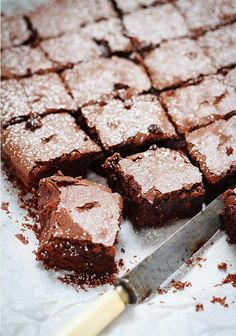 Fudgy Espresso Brownie Squares– Your best companion for a comfy afternoon snuggled with a cup of coffee and a good book