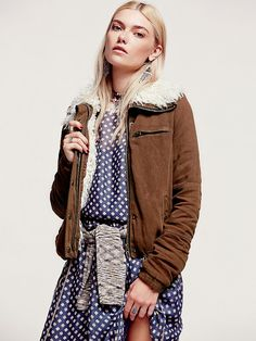 Free People Extreme Sherpa Collar Jacket at Free People Clothing Boutique