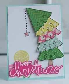 christmas cards, stamp sets, xmas trees, card idea, whimsical christmas