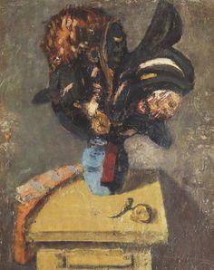 Artur Nacht Samborski - Czarny kwiat - malarze.com -- Sztuka Polska i Malarze Polscy - Malarstwo Polskie i Polscy Malarze - Galeria Malarzy Polskich
