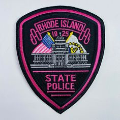 Rhode Island State Police, Patches For Sale, U.s. States, United States, Police Uniforms, Police Patches, Law Enforcement, Breast Cancer Awareness, Porsche Logo