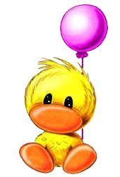Baby Ducky With Balloons Cute Images, Cute Pictures, Easter Bunny Pictures, Blue Nose Friends, Belly Painting, Cute Clipart, Tatty Teddy, Easy Drawings, Cute Art