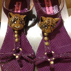Cute Betsy Johnson sandals I saw today at Dillard's. Great for Tiger football or baseball games!
