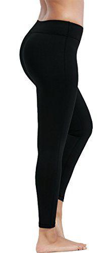 bb4895438bb37 Olacia Womens High Waisted Workout Leggings Running Pants Black Soft Yoga  Pants S-XXL -